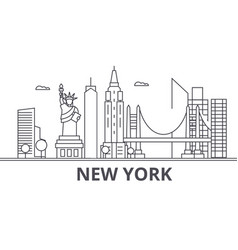 New york architecture line skyline vector