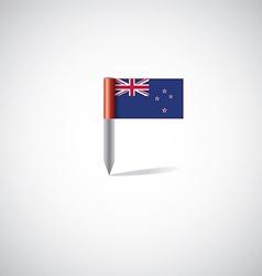 New zealand flag pin vector