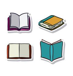 Open and close books design vector
