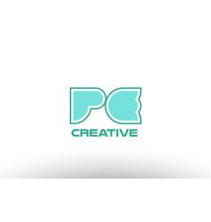 Pastel green alphabet letter pe p e combination vector