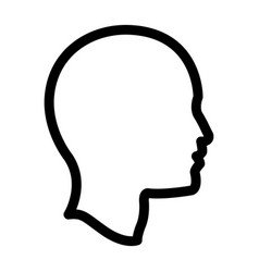 profile head human man outline vector image