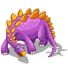 Purple dinosaur with spikes tail vector image