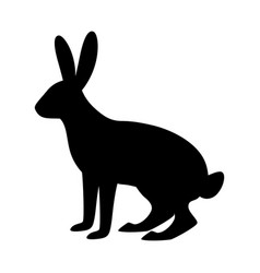 rabbit silhouette in vector image
