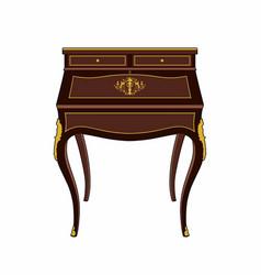 Romantic period furniture vector
