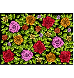 roses black background vector image