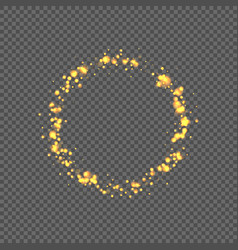 round frame with bokeh glowing light effect vector image