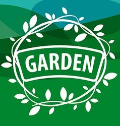 Round logo Garden Plants vector