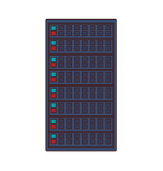 Server tower technology vector