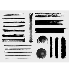 Set grungy brushes and textures vector