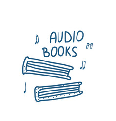 Set of audio books symbols vector