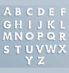 set paper alphabet vector image