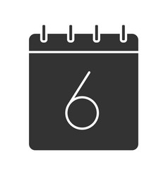 Sixth day month glyph icon vector