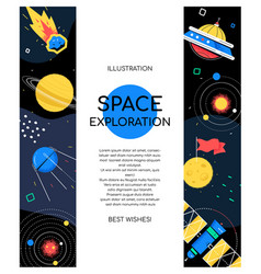 space exploration - modern flat design style vector image