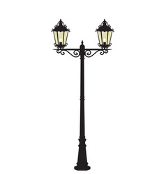 street lamp vector image