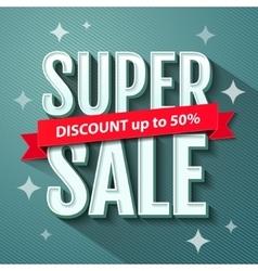 Super Sale inscription banner design template vector image
