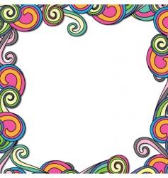 swirl retro frame vector image