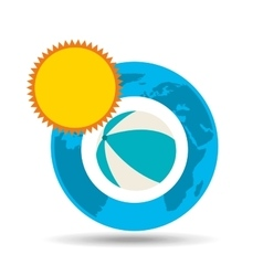 vacation around world sunny beach ball vector image