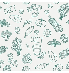 Vegetables seamless pattern Healthy eating vector image