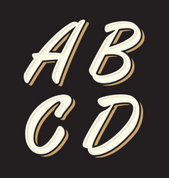 Vintage letter abcd vector