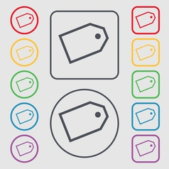 Web stickers icon sign symbol on the Round and vector image