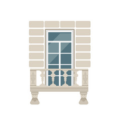 balcony with stone balusters vector image