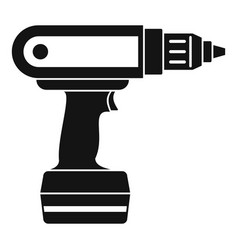 electric screwdriver drill icon simple vector image