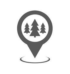 forest map pointer icon simple vector image