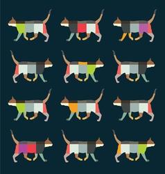 fun cats pattern vector image