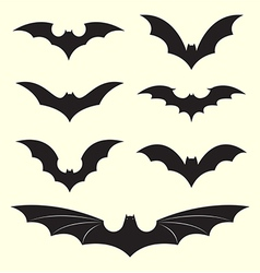 group of bat vector image
