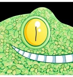 portrait of a crocodile vector image