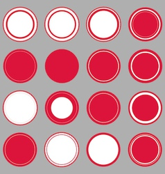 Set of blank retro vintage badges and labels vector image vector image