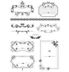 Vintage border frames vector image vector image