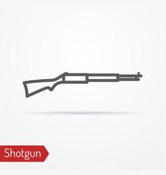 classic hunter rifle silhouette icon vector image vector image