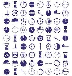Clock icon on white vector