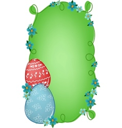 Easter banner with text field vector image
