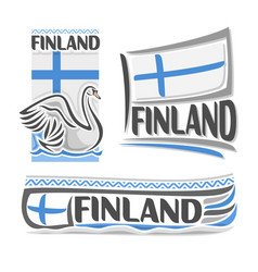 logo for finland vector image vector image