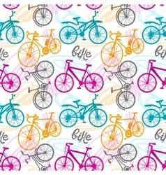 Seamless pattern bike vector image vector image