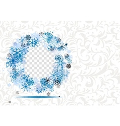 Winter frame with place for your photo vector image