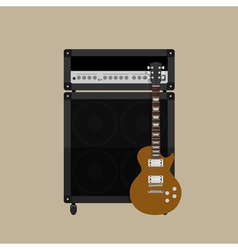 Guitar amplifier guitar 2 vector image