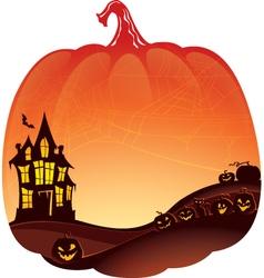 Halloween Double Exposure background vector image vector image