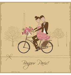 Paris card vector image vector image