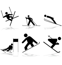 Snow sports vector image