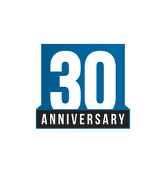 30th anniversary icon birthday logo vector