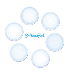 3d realistic soft hypoallergenic cotton pad for vector