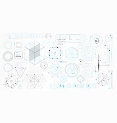 A set hud geometric elements for futuristic vector