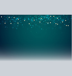 abstract dark blue blurred background with bokeh vector image