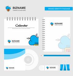 Artificial intelligence on cloud logo calendar vector