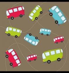 Autobus pattern vector