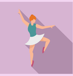 Ballerina stage icon flat ballet dancer vector