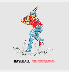 baseball player with a bat outline vector image
